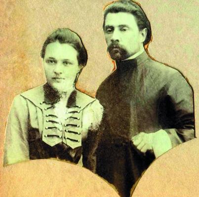 Иерей Михаил Адамантов </br> с матушкой Марией